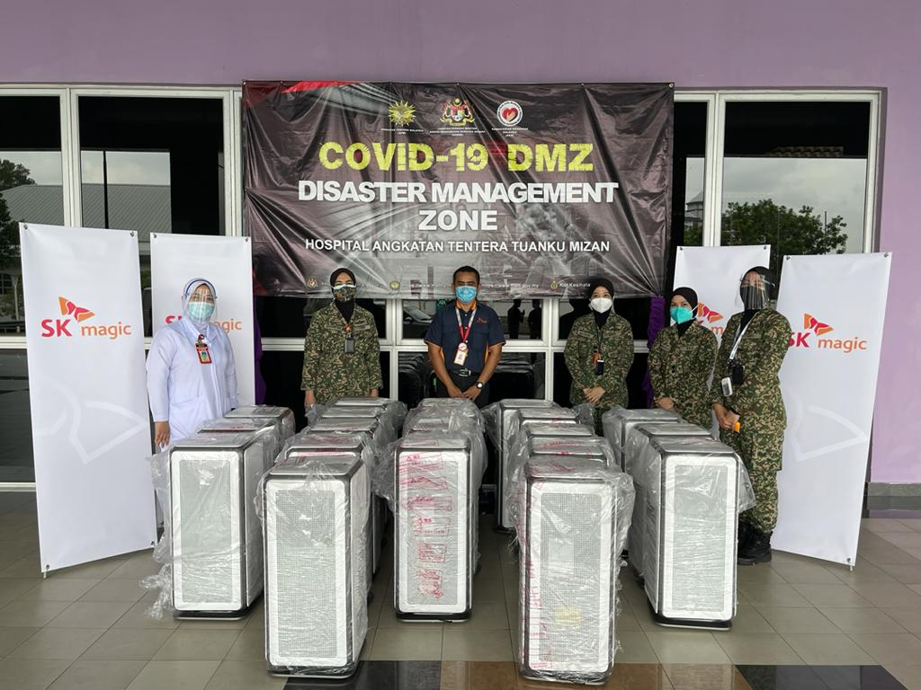 Hospital Angkatan Tentera Tuanku Mizan accepts Air Motion to help give a peace of mind to the front-liners, Covid-19 patients and visitors