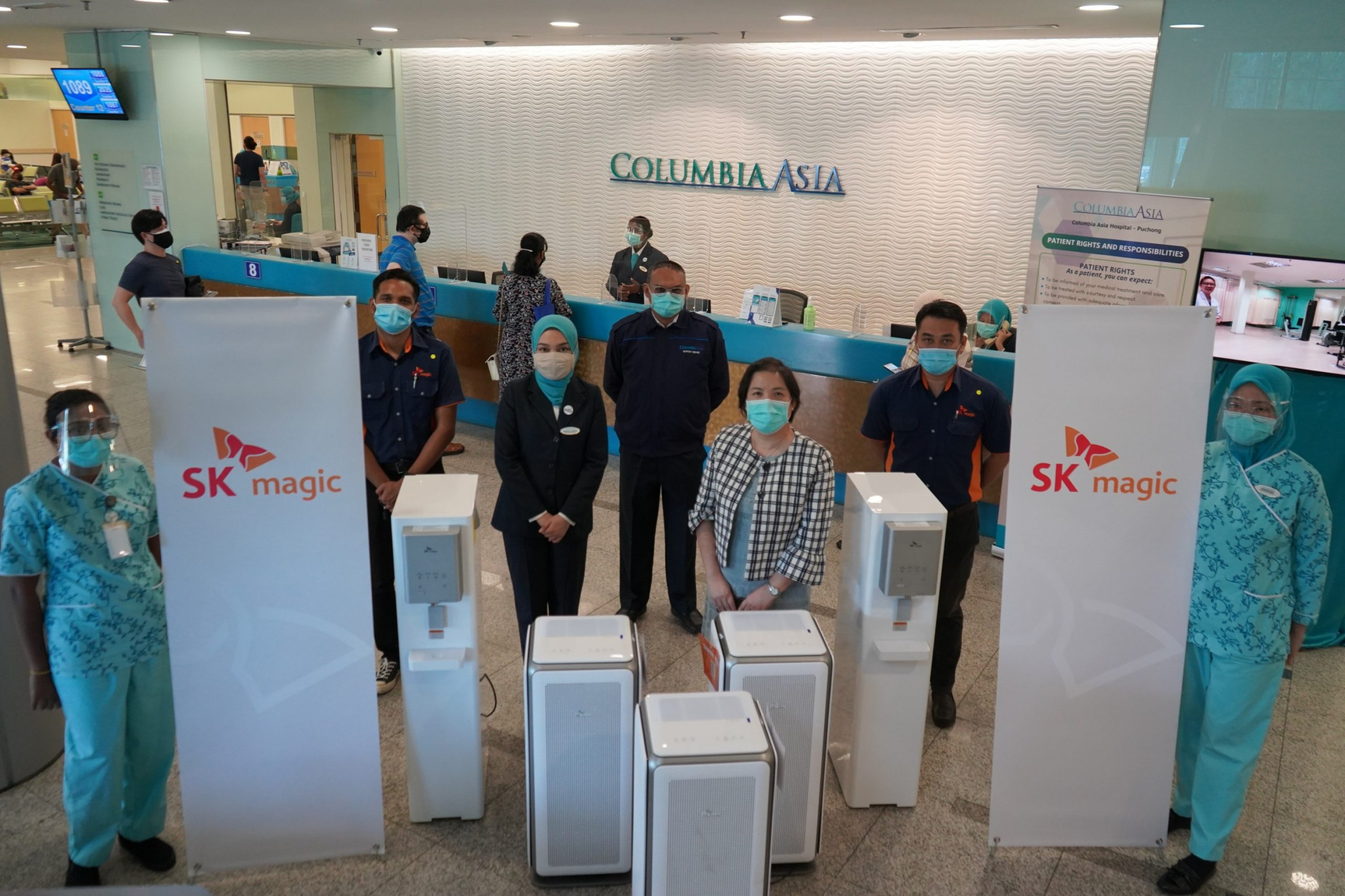 Installation of Air Motion at Columbia Asia Hospital Puchong to further safeguard front-liners and visitors