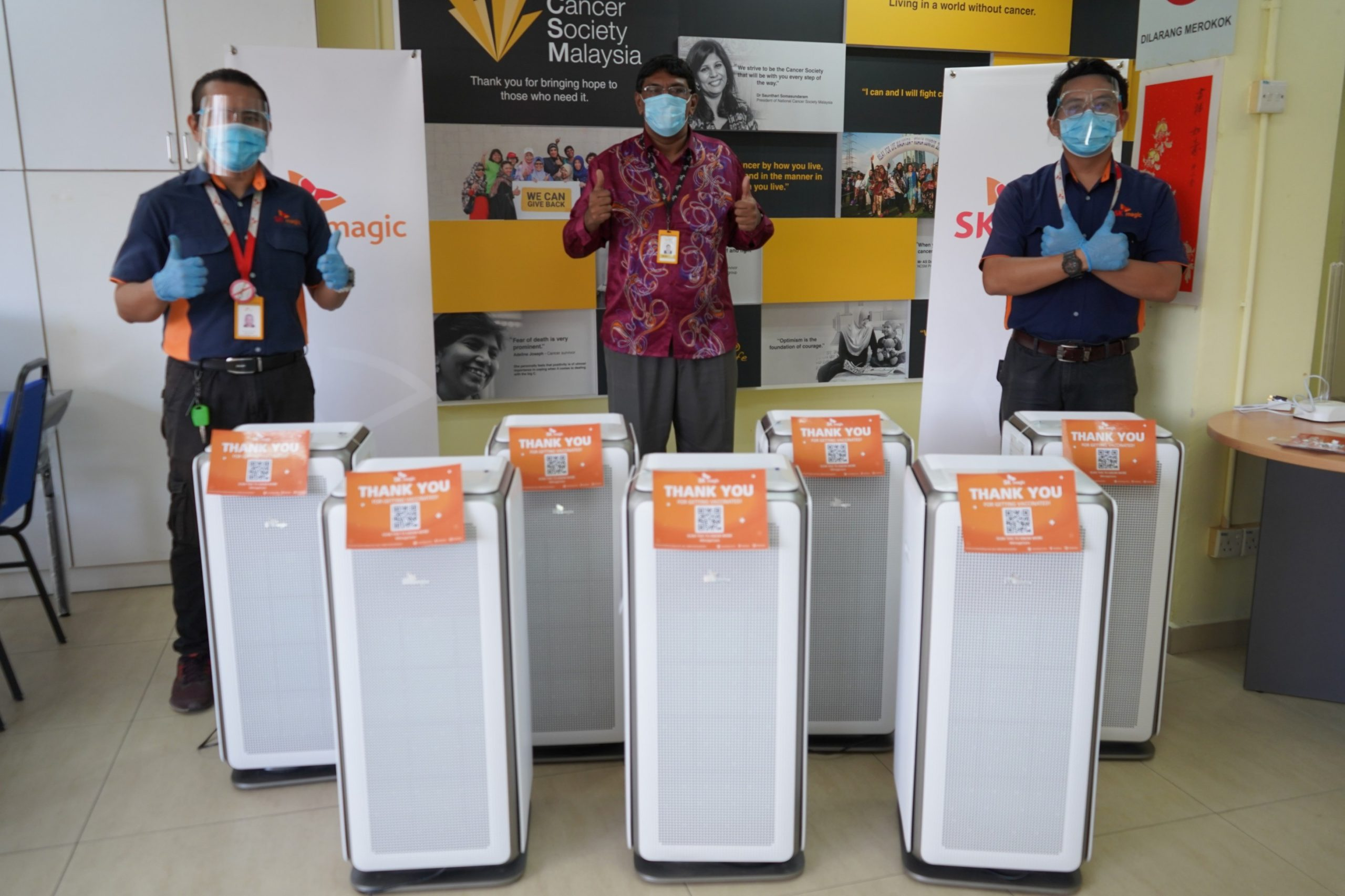 National Cancer Society Malaysia receives Air Motion to provide clean air for their PPV and also improve the environment for existing patients.