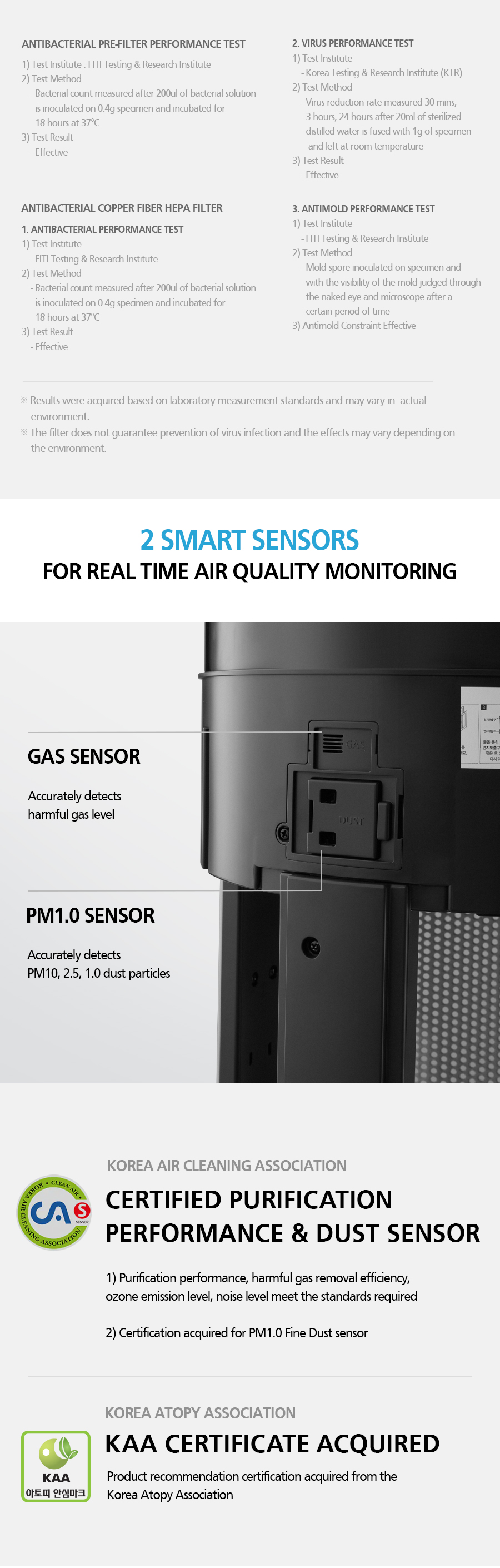 2 SMART SENSORS FOR REAL TIME AIR QUALITY MONITORING